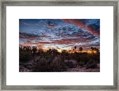 Arizona Sunset Framed Print