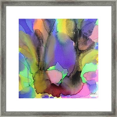 4 Art Abstract Painting Modern Color Signed Robert R Erod Framed Print