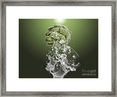 Artichoke Splash Framed Print by Marvin Blaine