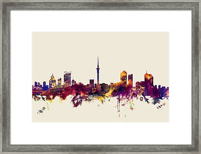 Auckland New Zealand Skyline Framed Print