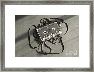 Audio Tape Cassette With Subtracted Out Tape.  Framed Print