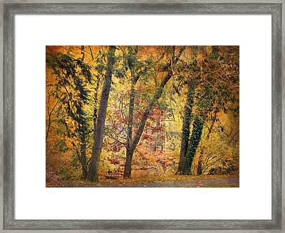 Autumn Canvas Framed Print by Jessica Jenney