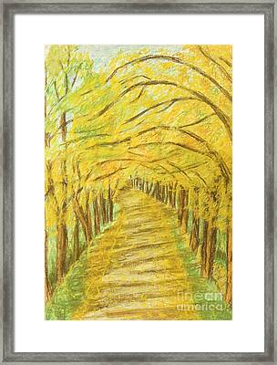 Autumn Landscape, Painting Framed Print