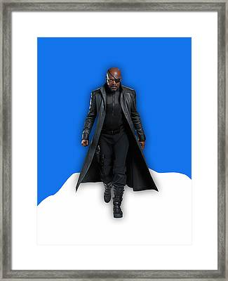 Avengers Nick Fury Collection Framed Print by Marvin Blaine