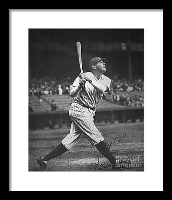 Babe Ruth Framed Prints