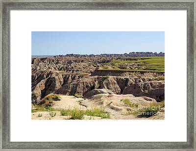 Badlands National Park South Dakota Framed Print by Louise Heusinkveld