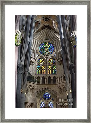 Basilica Sagrada Familia Framed Print by John Greim