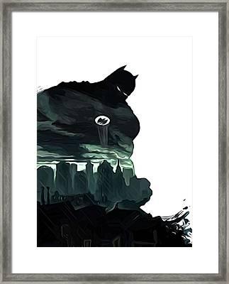 Batman Robin Print Framed Print