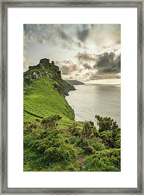 Beautiful Evening Sunset Landscape Image Of Valley Of The Rocks  Framed Print