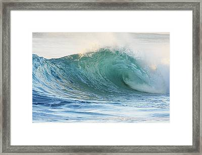 Beautiful Wave Breaking Framed Print by Vince Cavataio - Printscapes
