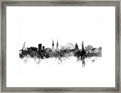 Belfast Northern Ireland Skyline Framed Print by Michael Tompsett