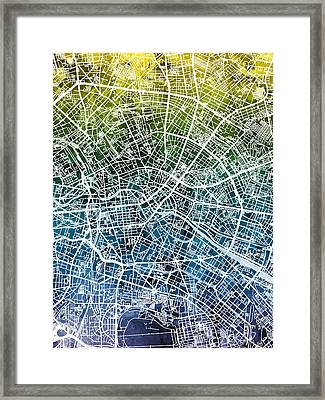Berlin Germany City Map Framed Print