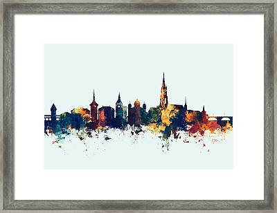 Bern Switzerland Skyline Framed Print by Michael Tompsett