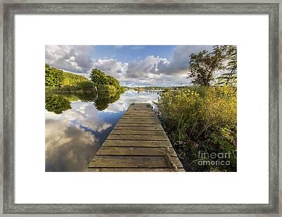 Betsie Lake In Elberta Framed Print by Twenty Two North Photography