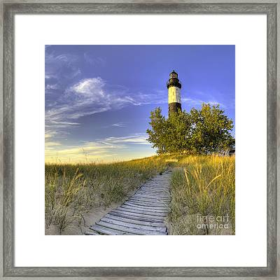 Big Sable Lighthouse Framed Print by Twenty Two North Photography