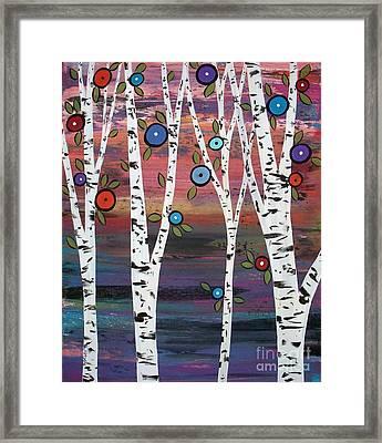 4 Birches Framed Print by Karla Gerard