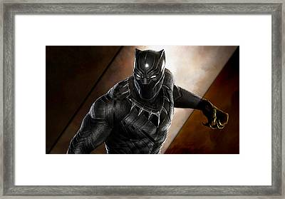 Black Panther Collection Framed Print