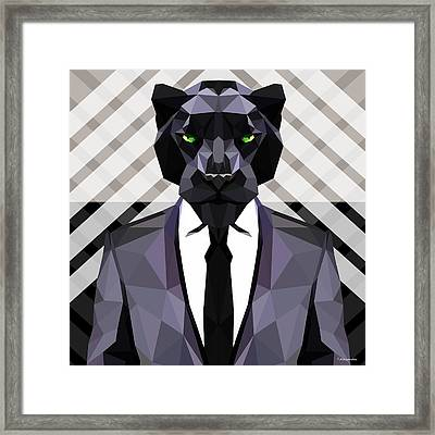 Black Panther Framed Print by Gallini Design