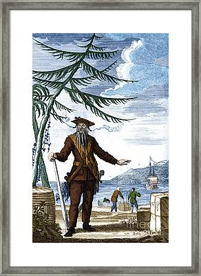 Blackbeard, Edward Teach, English Pirate Framed Print