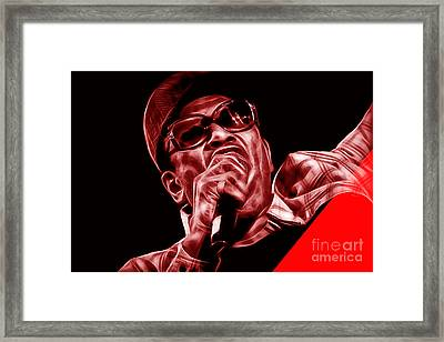 Bobby Womack Collection Framed Print by Marvin Blaine