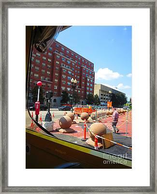 Boston City Bus Tour N Duck Tour On Lake Photography View Windows By Navinjoshi Fineartamerica Pixel Framed Print by Navin Joshi