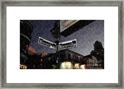 Bourbon Street Framed Print