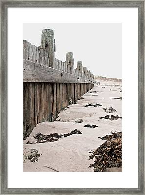 Breakwater Framed Print by Tom Gowanlock