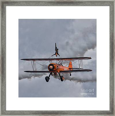 Breitling Wing Walker Framed Print by Nichola Denny
