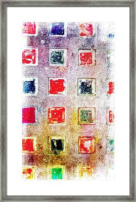 Bright Grunge Abstract Framed Print by Tom Gowanlock