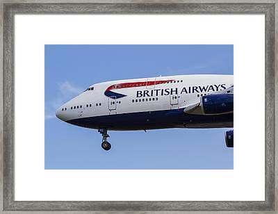 British Airways Boeing 747 Framed Print by David Pyatt