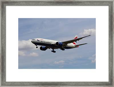 British Airways Boeing 777 Framed Print