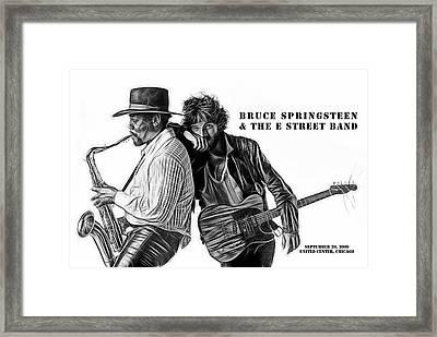 Bruce Springsteen Clarence Clemons Collection Framed Print