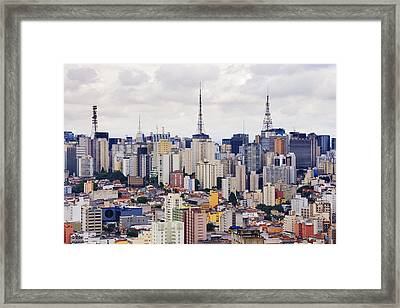 Buildings Of Downtown Sao Paulo Framed Print
