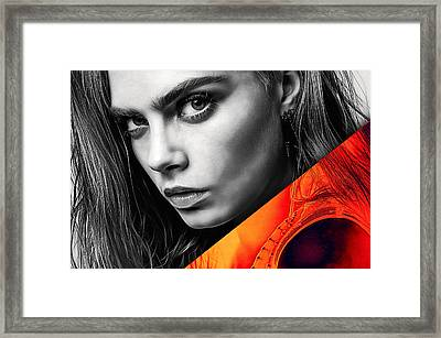 Cara Delevingne Collection Framed Print by Marvin Blaine