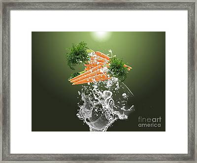 Carrot Splash Framed Print