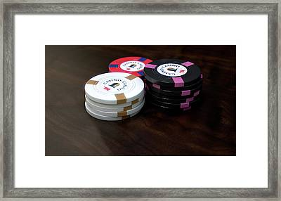 Casino Chips Framed Print