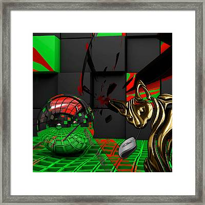 Cat And Mouse Art Collection Framed Print