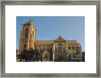 Cathedral Of Saint Martin In Colmar Framed Print by Yefim Bam