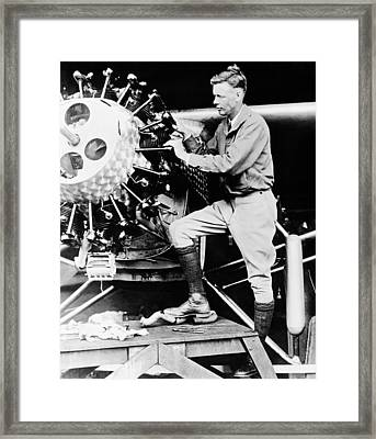 Charles Lindbergh Framed Print by American School