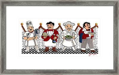 4 Chefs Framed Print by John Keaton