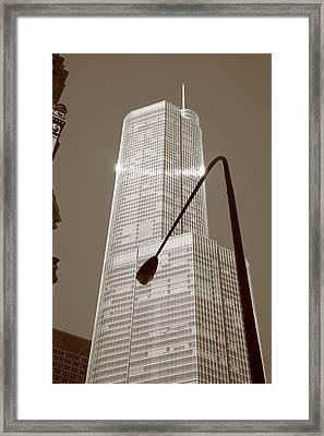 Chicago Skyscraper Framed Print by Frank Romeo