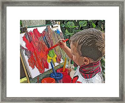 Children Series Framed Print by Ginger Geftakys