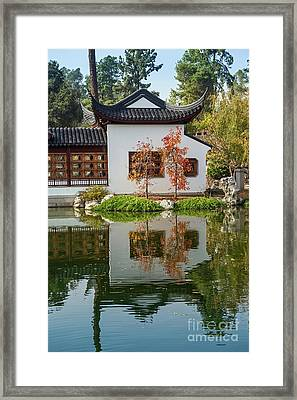 Chinese Garden At The Huntington Library. Framed Print