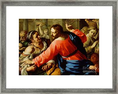 Christ Cleansing The Temple Framed Print