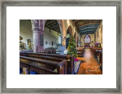 Church At Christmas Framed Print by Ian Mitchell