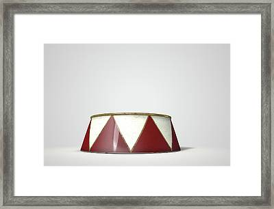 Circus Podium Isolated Framed Print by Allan Swart