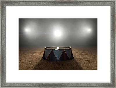 Circus Ring And Podium  Framed Print