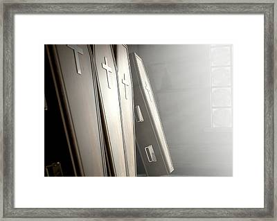 Coffin Row In A Room Framed Print