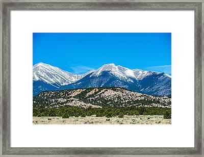 Colorado Roky Mountains Vista Views Framed Print by Alex Grichenko
