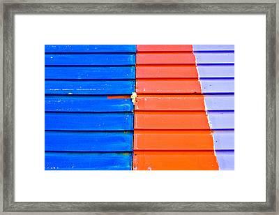 Colorful Wood Framed Print